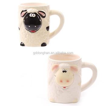 7e839e8064c Hot Sale Cool Kids Embossed Sheep Shaped Ceramic Mug - Buy Embossed ...