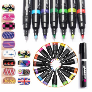 GARSON nail art pen non-toxic 24 colors for nail wholesale high quantity nail painting pen