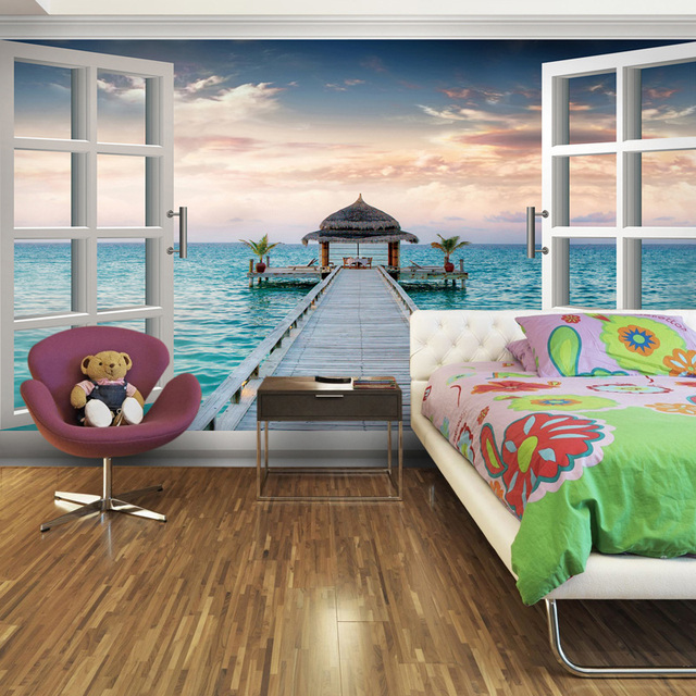 Large Mural Wallpaper 3d Wallpaper For Bedroom Dining Room
