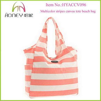 Hobo Style Canvas Tote Bags Bulk Wholesale Stripes Prints ...