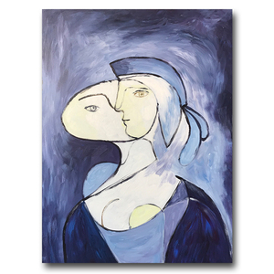 Simple Easy Hand Painted Famous Abstract Woman Figure Oil Painting On Canvas