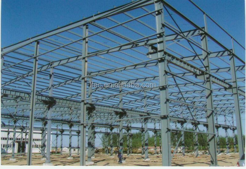 Color Painted Prefabricated Steel Buildings For Roof Truss System