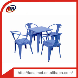 SM-T1101-60 Metal Chair and Table Set/Restaurant Dining furniture