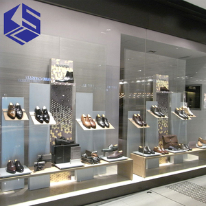 Customized New supply Fashion lady shoes store window displays stand