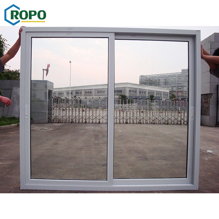 Australian Standard Promotional Prices Double Glass UPVC White Glass Sliding Door