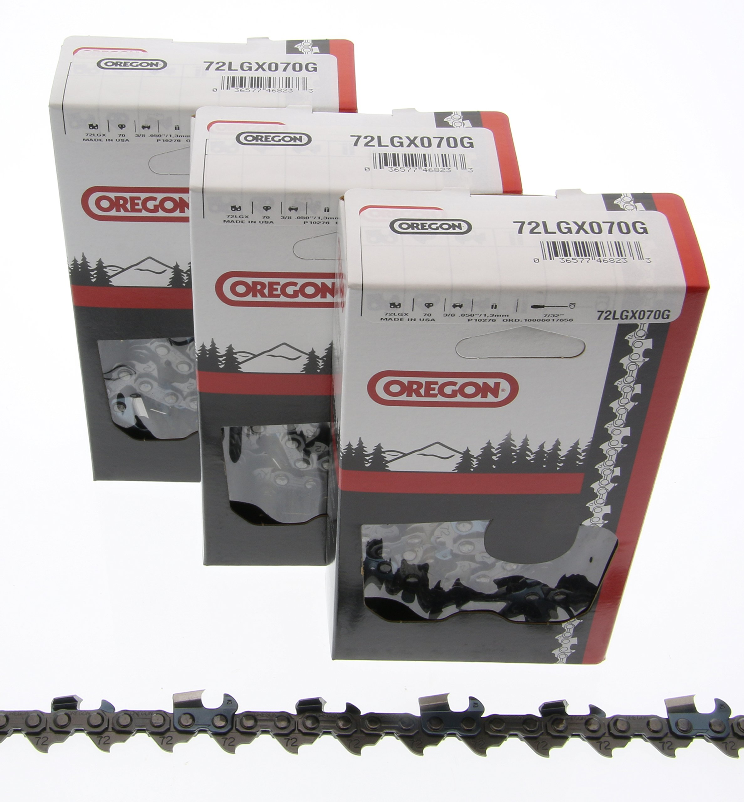 6-Pack Replacement 20 Full Chisel Saw Chain for Echo, Homelite, McCulloch,