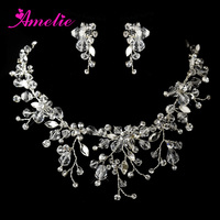 Crystal And Rhinestone Wedding Jewelry Sets Party Prom Accessories Bridal Hair Jewelry