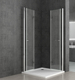 frameless bifold shower cubicle with folding bathtub door