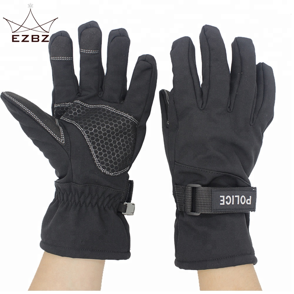 Good Quality Waterproof Ski Snowboard Cold Weather Winter 5-finger 3M Thinsulate Warm Ski Gloves, Black or customized