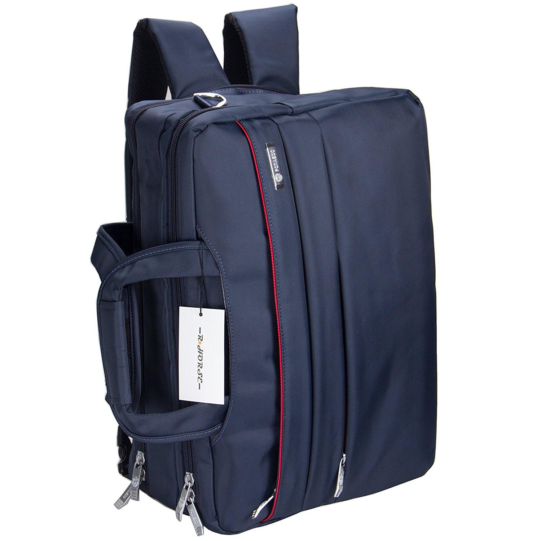 R Horse 15.6 inch Triple-propose Multi-function Convertible Laptop Messenger Computer Bag Single-shoulder Backpack Briefcase For Laptop / Ultrabook / Tablet / Macbook /Business, RH-tripack-grey