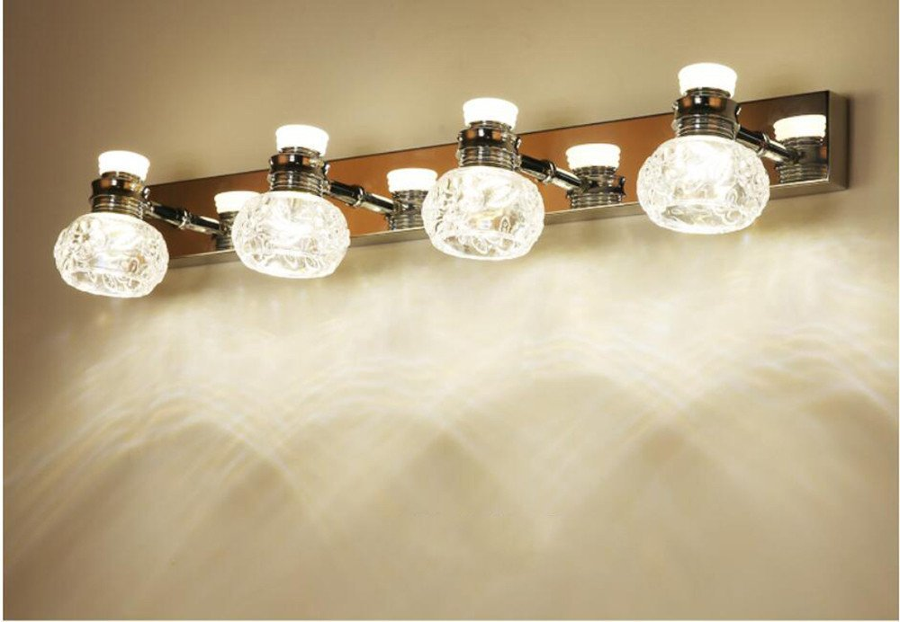 Simple Modern Mirror Lights Waterproof Toilet Washing Table Bathroom LED Light,a,Natural light