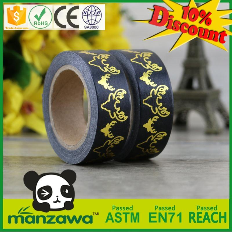new products 2016 customized masking tape die cutting foil washi tape