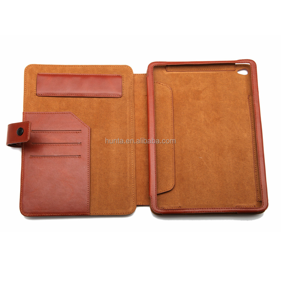 For iPad mini4 leather case, for iPad mini4 credit card case, for ipad mini 4 wallet case with stand