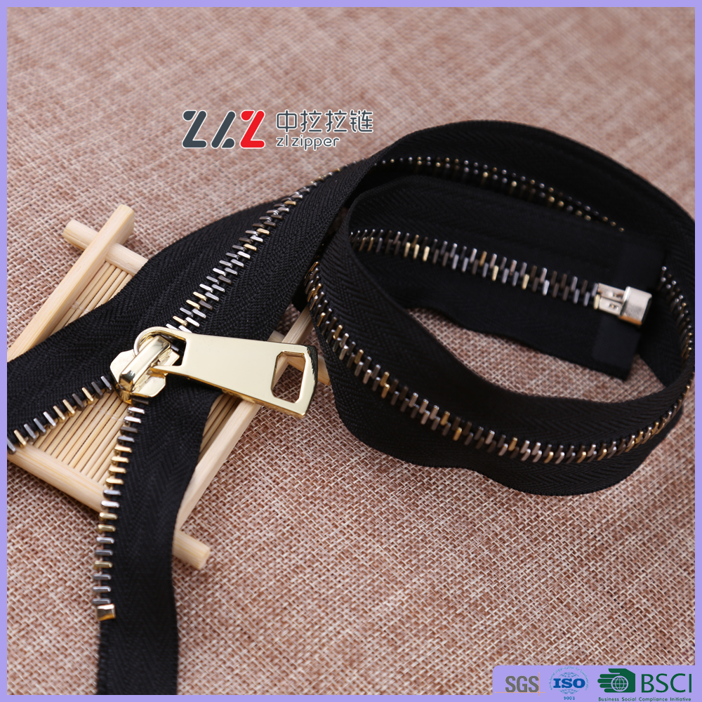 #8 Tiger teeth GL european teeth Material color is Pale gold metal High quality and very test process zipper
