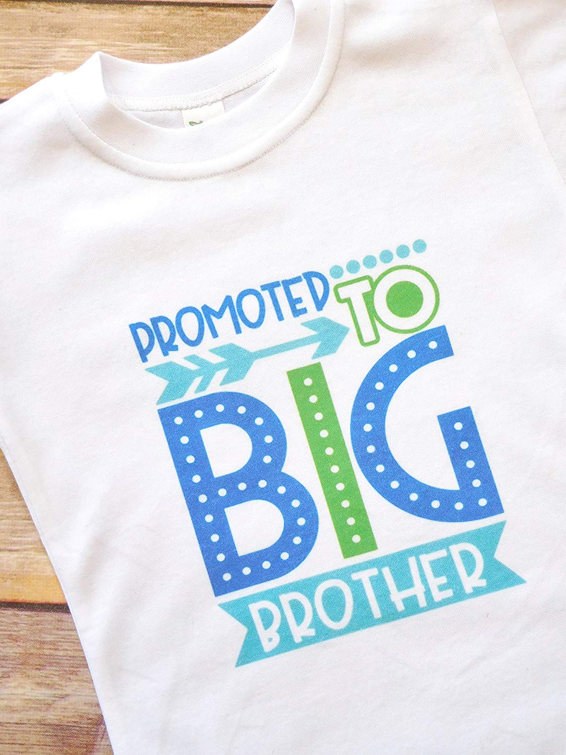 0a6477e5 Get Quotations · Promoted to Big Brother - Toddler T-shirt - Pregnancy  Announcement Shirt