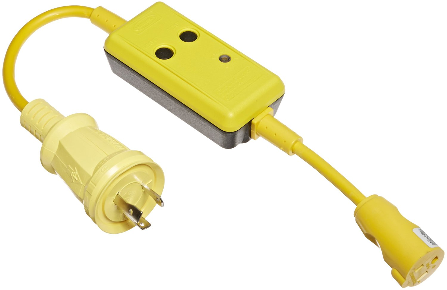 Buy Hubbell Wiring Device Kellems Hbl21cm28 Plug Adapter15a125v In A End Systems Hbl105gf Molded Straight Adapter 15a 125v 2p 3w Female With 30a Twist Lock Male Yellow