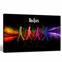 Famous Rock Band Beatles Poster Framed/Music Canvas Wall Art for Living Room/Abbey Road Canvas Art