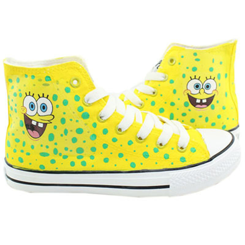 official photos 845cc 57ed6 Get Quotations · LUC 15 Style Hot Newest Canvas Shoes Spongebob of Cute  Canvas Shoes for Man Women Sneakers