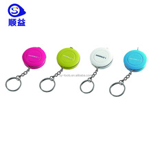 Plastic Pink / purple Mini Knitted Tape Measure Keychain for lady