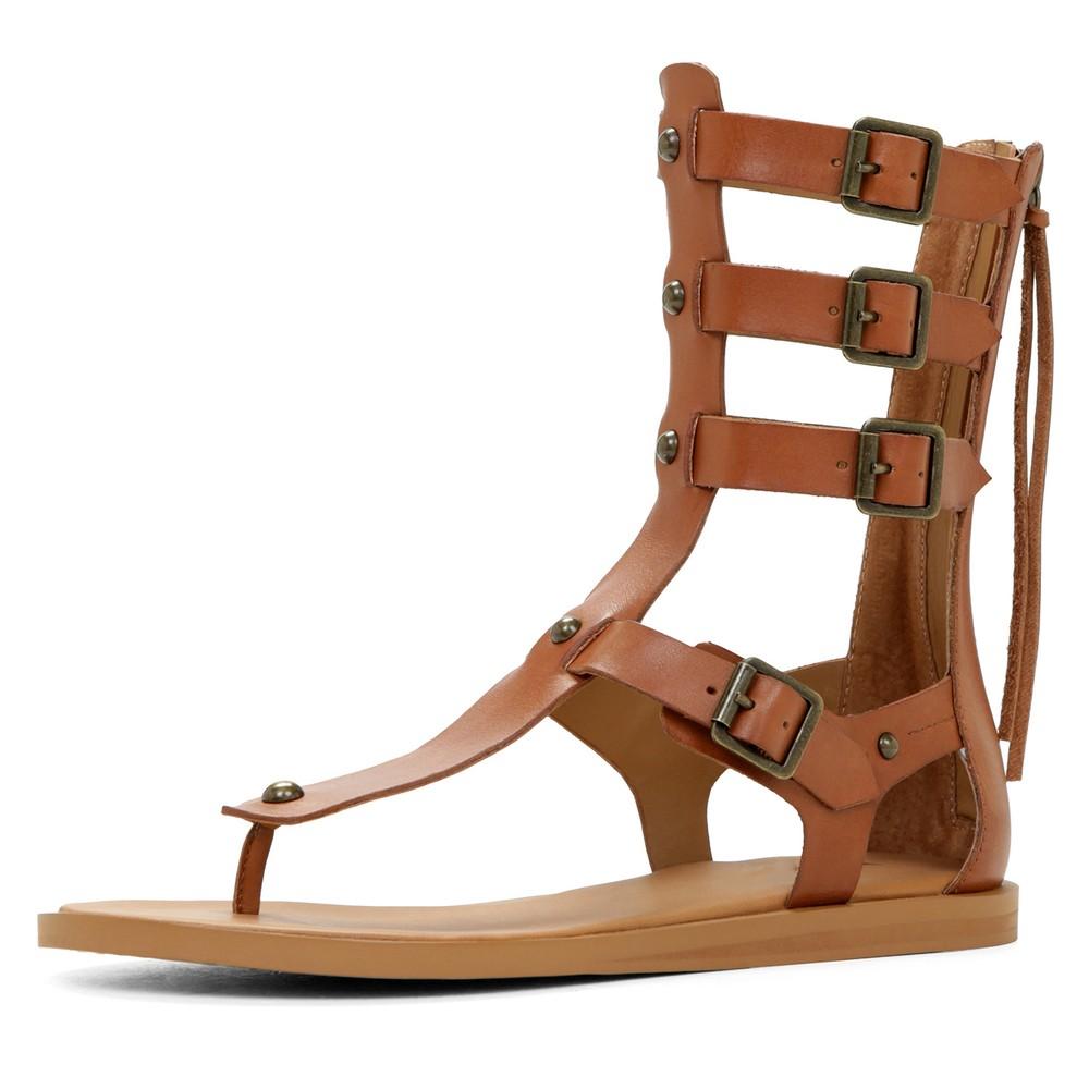 Flat Leather Sole Fashion Ladies High