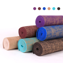 High Density Factory Large Exercise Yoga Mat India 6mm Thick Air Tumbling Mat Hemp