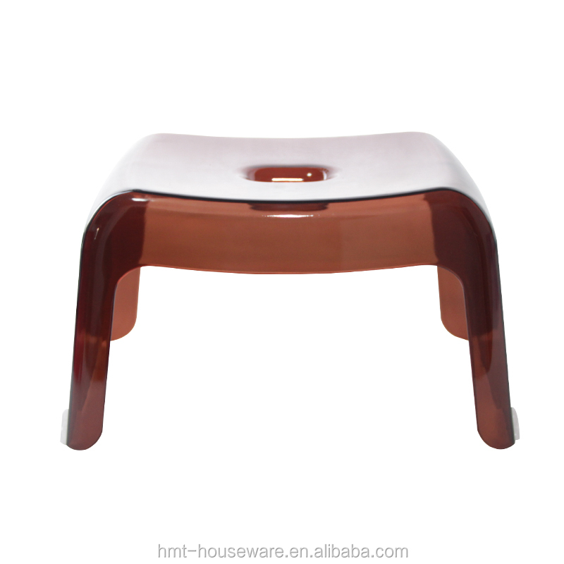 pc wholesale household colorful innovative design padded stackable plastic sitting stool