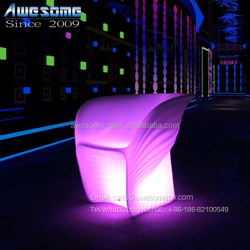 Bar Furniture Specific Use and Plastic Material led night club <strong>sofa</strong>
