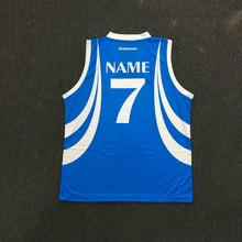 Großhandel Sublimation Druck <span class=keywords><strong>Basketball</strong></span> Jersey Uniform <span class=keywords><strong>Design</strong></span> Farbe Blau