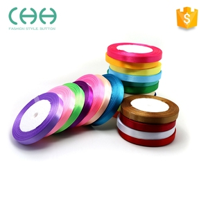 New design dyeing techniques polyester colorful satin ribbon