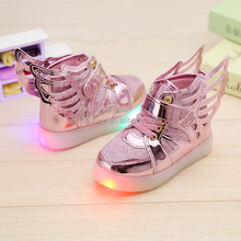 KS40217S New arrival led kids wing shoes hot sell fashion light up shoes