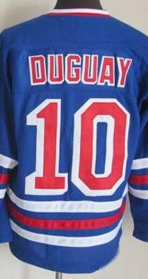 huge selection of e0e44 f40f7 new york rangers 10 ron duguay light blue with white ccm ...