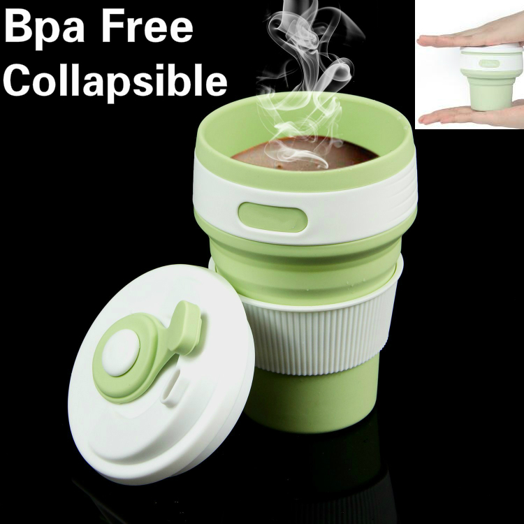 Free Samples Bpa Free Silicone Reusable Coffee <strong>Cup</strong> Collapsible 12oz