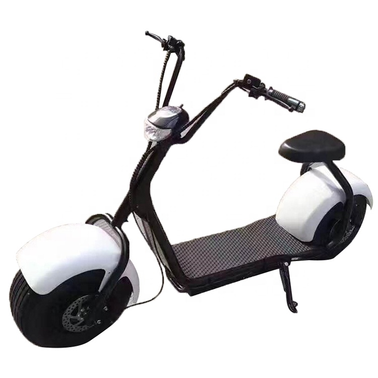 Emak/COC/EEC Factory supply cheap smart electric scooter citycoco, Black