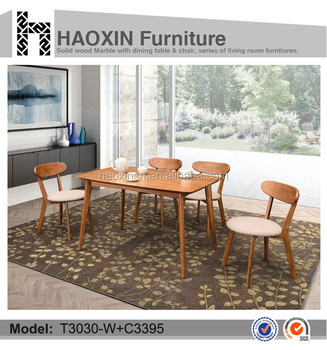 Promotion Price Hot Selling Dining Table Set Wooden Cheap Room Used