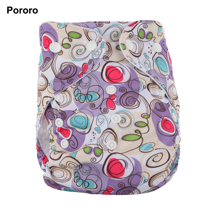 printed one row snap design pocket baby nappy reusable and washable weegro cloth diapers