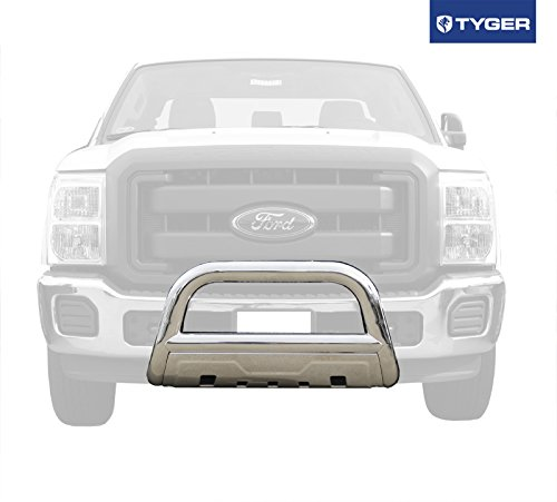 TYGER 3.5inch Oval Stainless Steel Bull Bar Fits 11-15 Ford Super Duty F250/F350