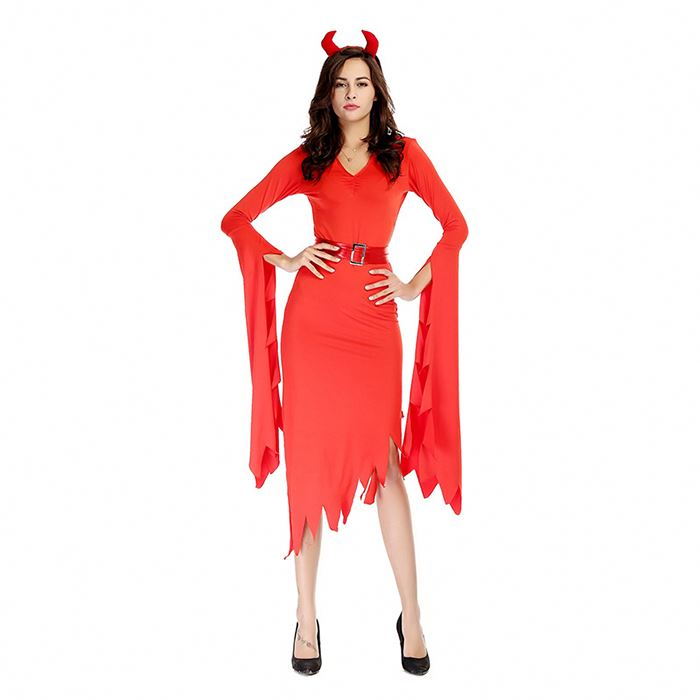 Factory Hot Sale Red Fancy Cosplay Dress Party City Halloween Costumes