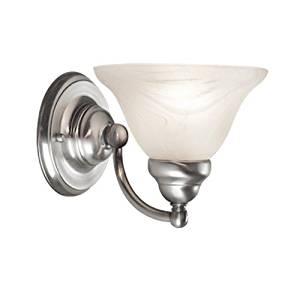 Woodbridge Lighting 50025-STN Anson 1-Light Bath/Vanity Light, Satin Nickel by Woodbridge Lighting