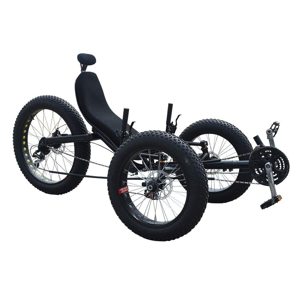 Desain baru Dua Roda Depan Satu Orang Gaya Mendaki Gunung Kecepatan Telentang Kecebong Telentang Trike Roda Tiga Listrik