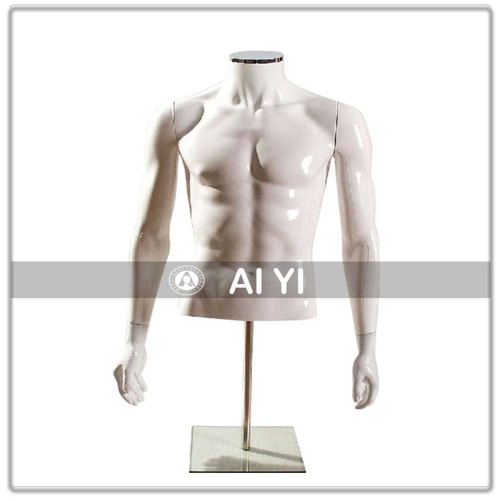 Half body male torso mannequin with standing
