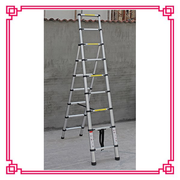 a frame telescopic ladder aluminium collapsible ladders adjustable ladder