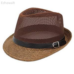 b663cfa917af4 Get Quotations · Unisex Breathable Mesh Straw Hat Fedora Hat Hats Caps Jazz  Sunhat