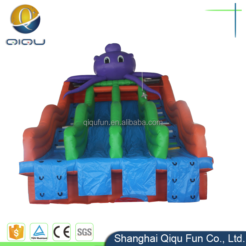Best price dual lane inflatable dry slide water pipe