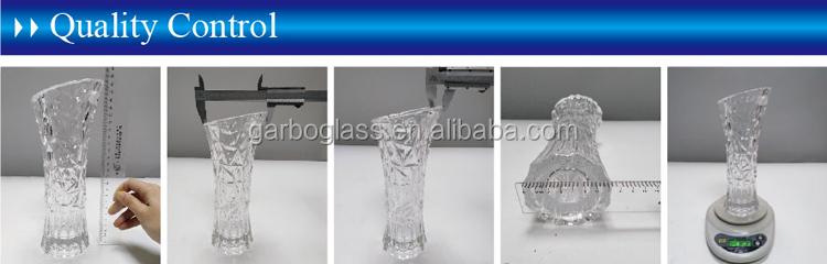 卸売ホーム装飾クリアフラワーガラス花瓶工場