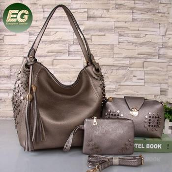 2018 Fashion Women PU Bags Ladies Tassel Handbag Set 3PCS in 1 SH622 ... 650e1455e7db3