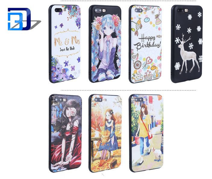Latest cartoon Anime printed phone case soft shockproof cell phone cover for iphone 7 plus