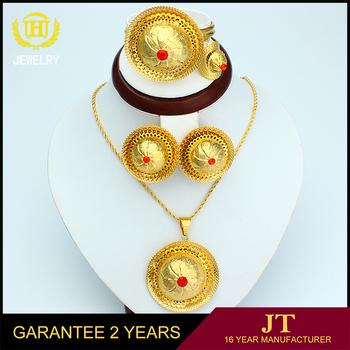 Dubai Gold Jewelry Set 22k Gold Jewellery Dubai Wholesale Jewelry