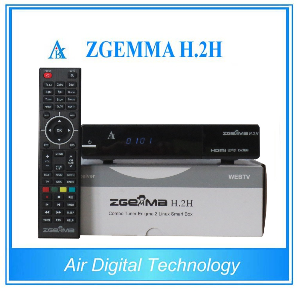 broadcasting equipment satellite &terrestrial receiver receiver HD combo DVB S2 DVB T2/C satellite decoder ZGEMMA H.2H
