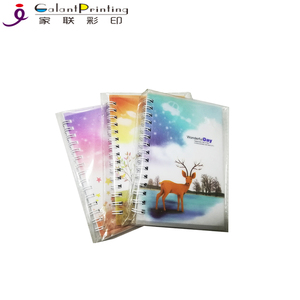New PVC Printing Bound School Writing Notebook Custom Design Spiral Notebook