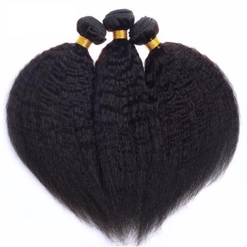 Best selling human hair weave virgin soft tangle free good hair afro kinky straight hair weave фото